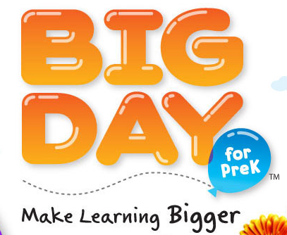 "Ballon letters text ""Big Day for PREK"""